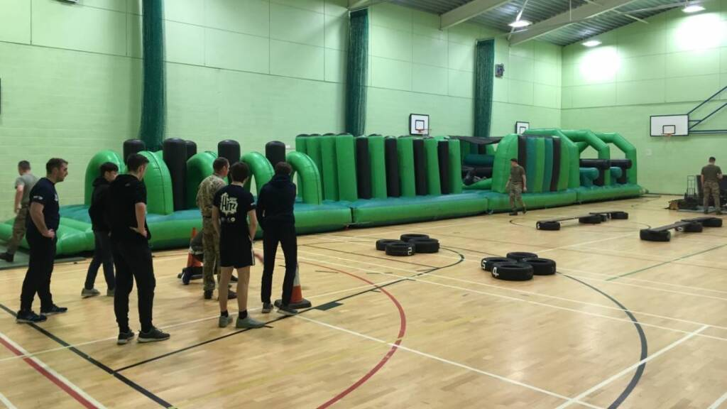 HITZ learners from Sale Sharks train with the Army