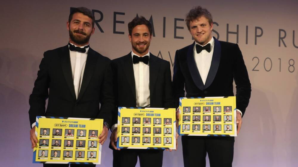 Premiership Rugby Fifteen Of The Best Make Up Bt Sport Dream Team At Premiership Rugby Awards
