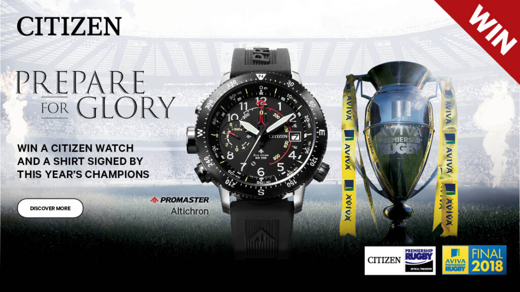 Prepare for glory with the Official Timekeeper of Premiership Rugby