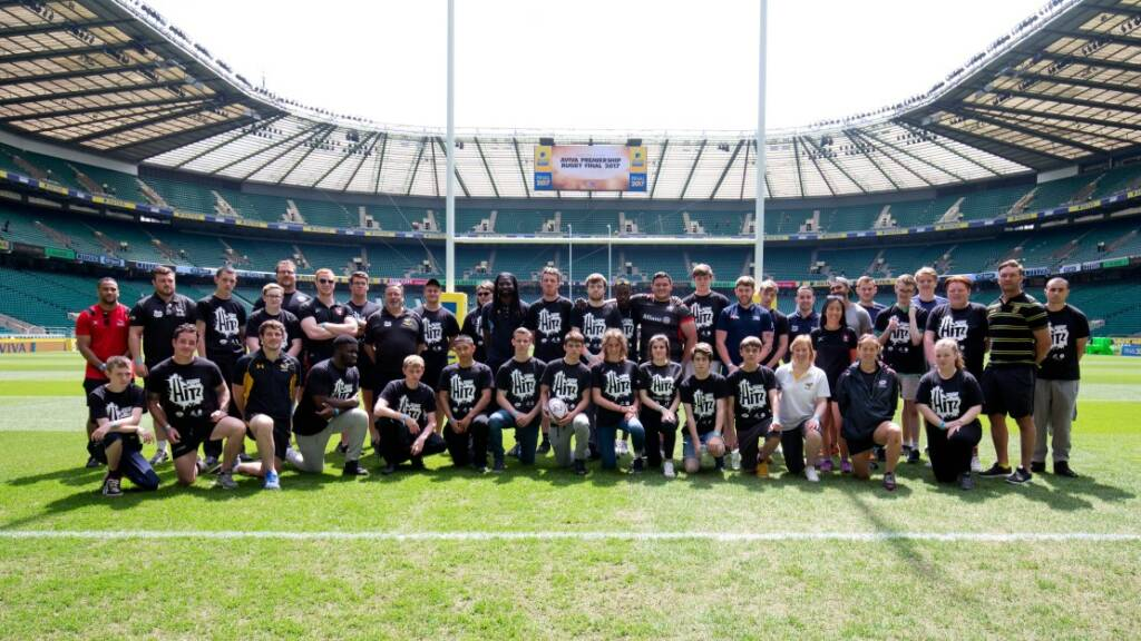 Learners from Premiership Rugby's award-winning HITZ programme ready for Twickenham trip