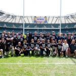 Youngsters from the HITZ programme at last year's Aviva Premiership final