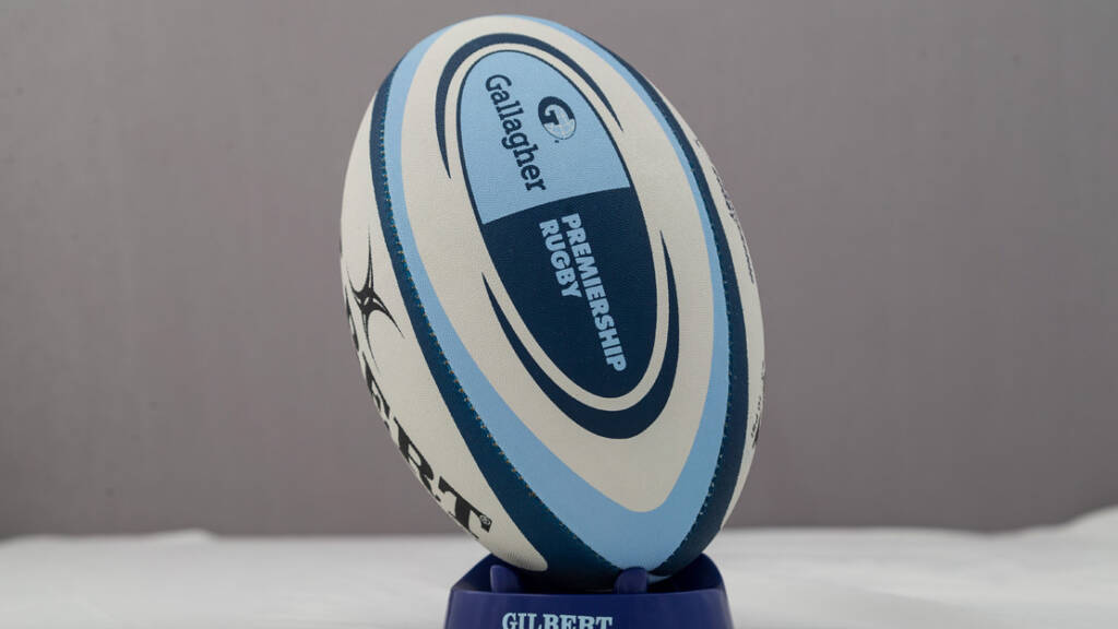 A Gallagher Premiership Rugby ball