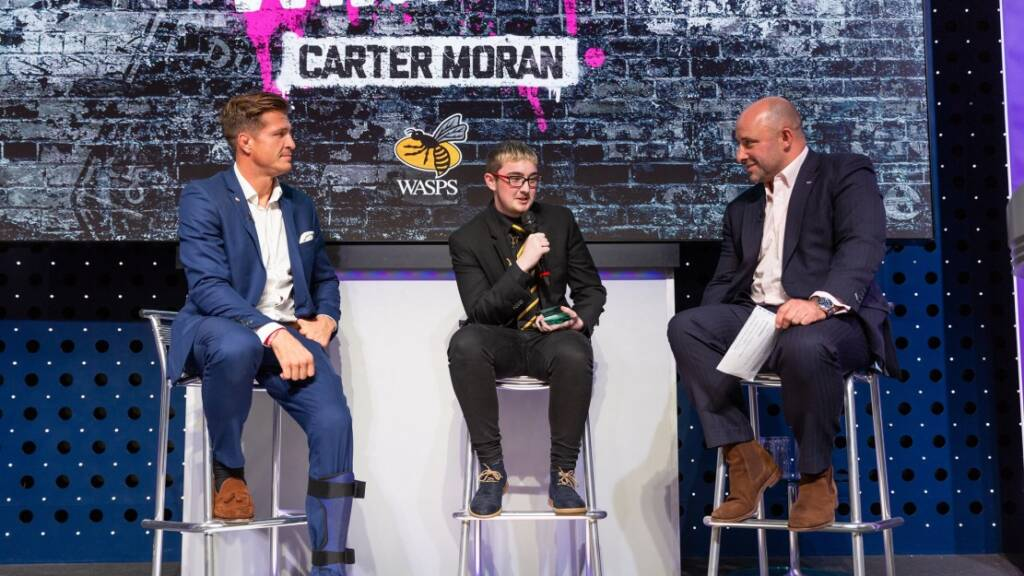 HITZ Wasps' Carter Moran collects Young Achiever Award