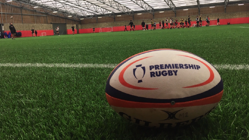 Newcastle Falcons train at Sunderland AFC's Academy of Light