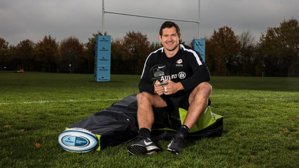 Saracens' Alex Goode named Gallagher Premiership Player of the Month