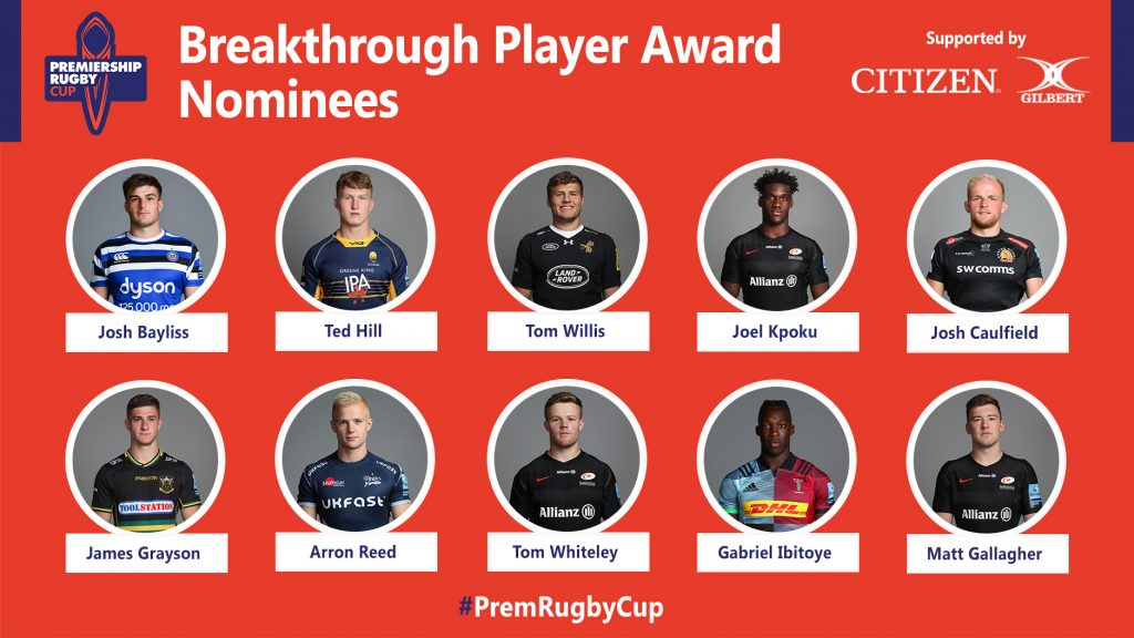 Premiership Rugby Cup Breakthrough Player Award voting open