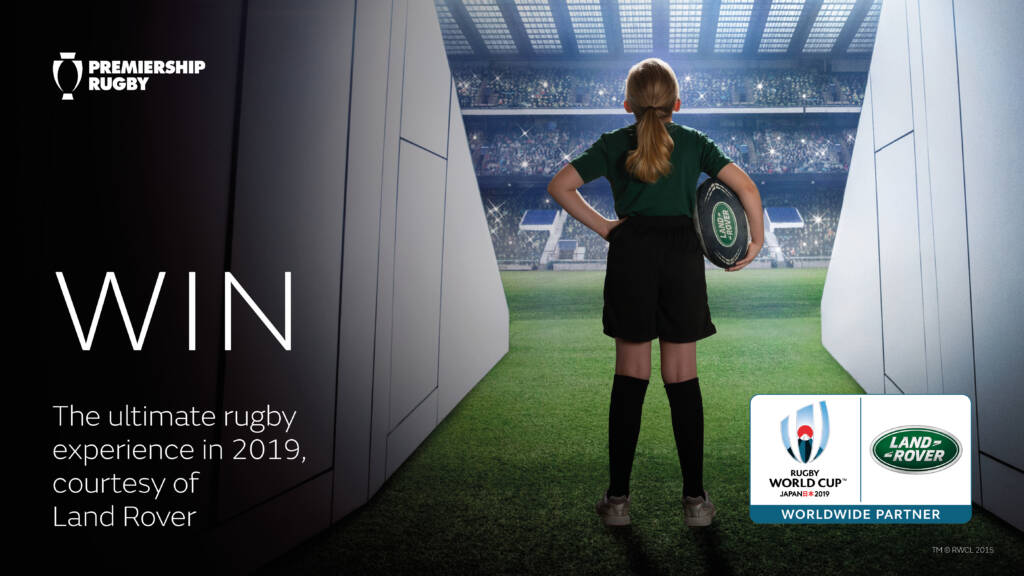 Win a day to remember at the Gallagher Premiership Rugby Final 2019 and a chance to be a Land Rover mascot at Rugby World Cup 2019™