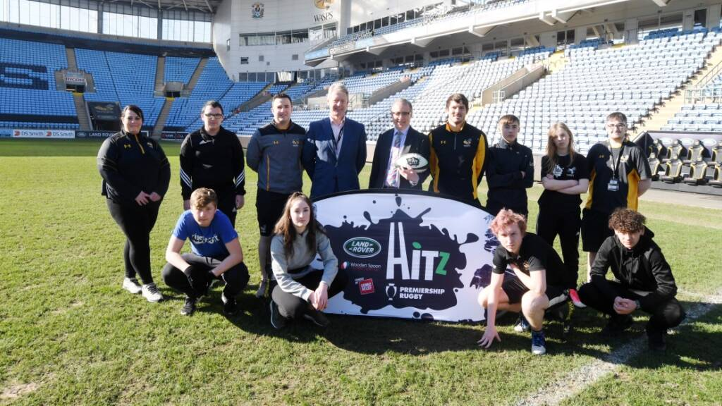 MP Mark Pawsey visits Premiership Rugby's HITZ programme at Wasps