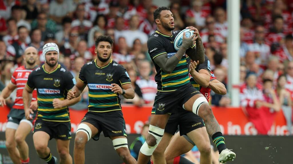 Courtney Lawes starts at 6 as Northampton Saints tackle Clermont away