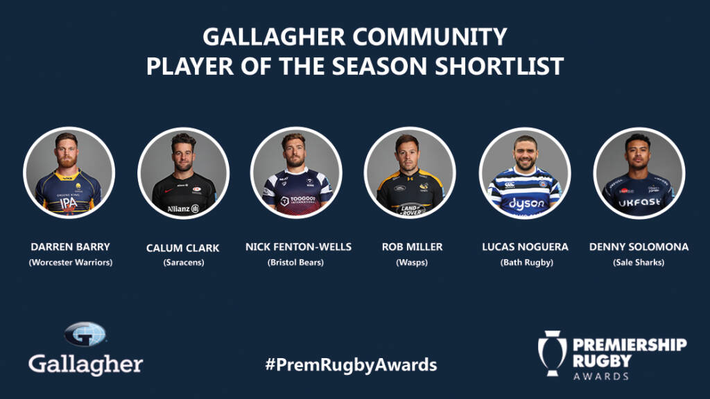 Gallagher Community Player of the Season shortlist announced