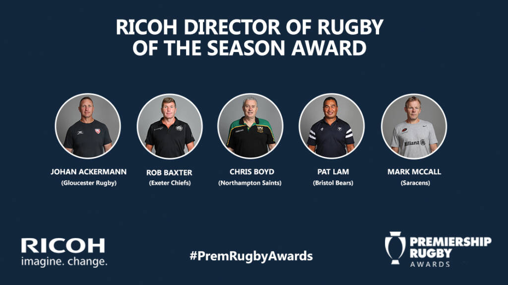 Ricoh Director of Rugby of the Season shortlist announced