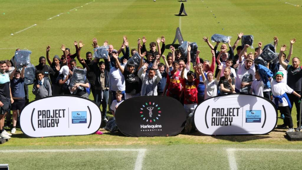 Over 80 young people enjoy mixed ability project rugby festival on Harlequins' pitch