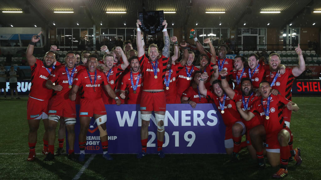 Saracens win the Premiership Rugby Shield 2019