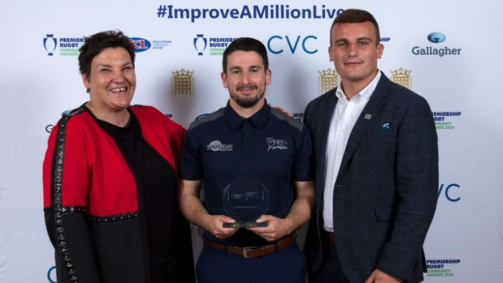 Sale Sharks' Craig Monaghan named Community Coach of the Year Award