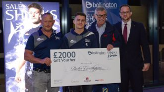 Preston Grasshoppers Receive £4,000 Donation From Sale Sharks