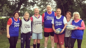 WALKING RUGBY: NEVER PLAYED RUGBY BEFORE? NEITHER HAD HOWARD