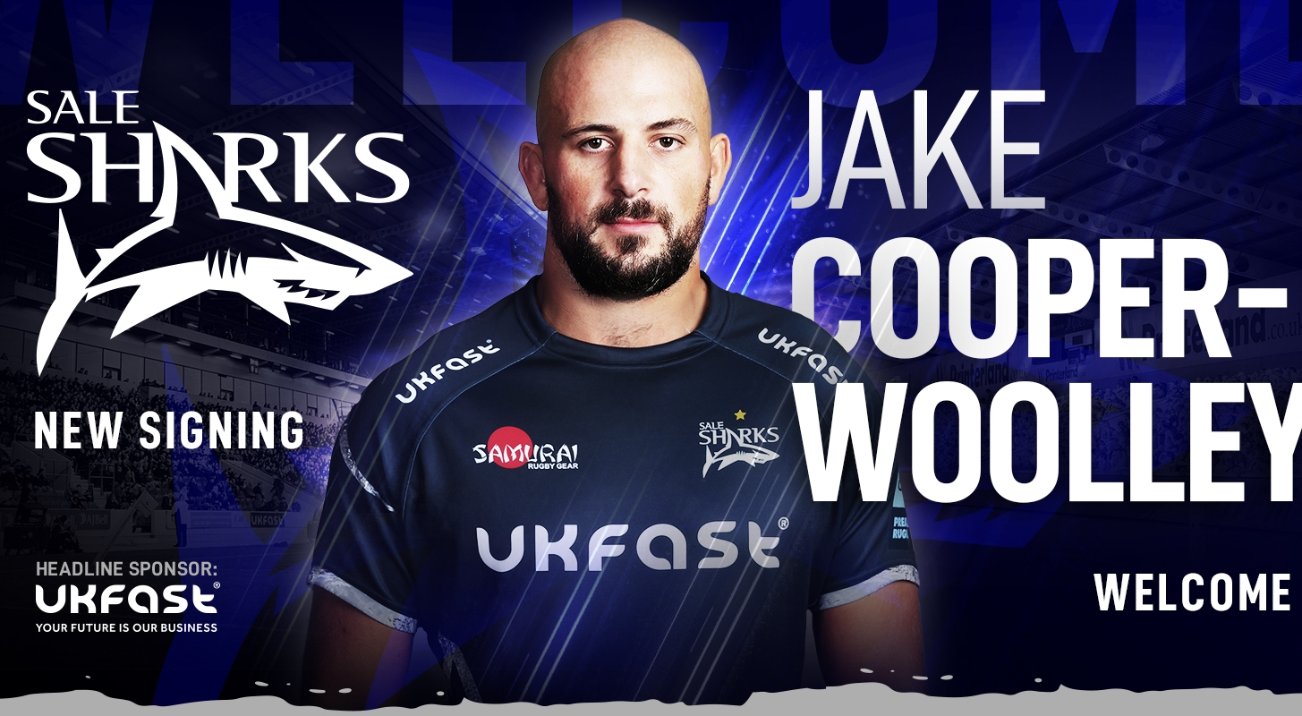 SALE SHARKS SIGN JAKE COOPER-WOOLLEY