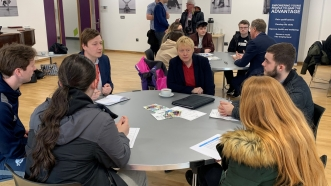 Wallasey MP Angela Eagle links up with Sharks Community Trust to tackle youth unemployment