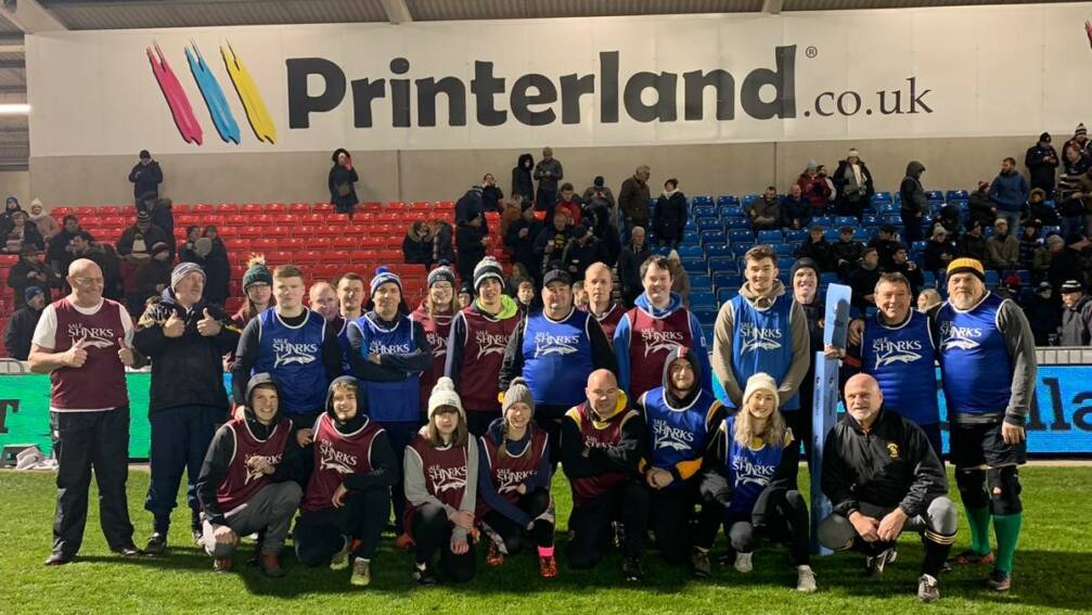 Printerland Donate Sale Sharks tickets to local Walking Rugby