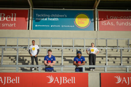 AJ Bell and Sale Sharks unveil 'Place2Be Stand' ahead of first game