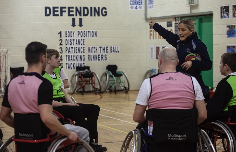 Sharks deliver wheelchair rugby sessions for Manchester students with additional needs