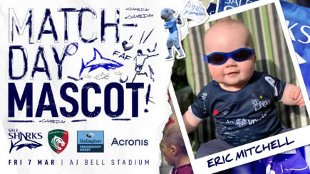 MATCHDAY MASCOT – Sale Sharks vs Leicester Tigers