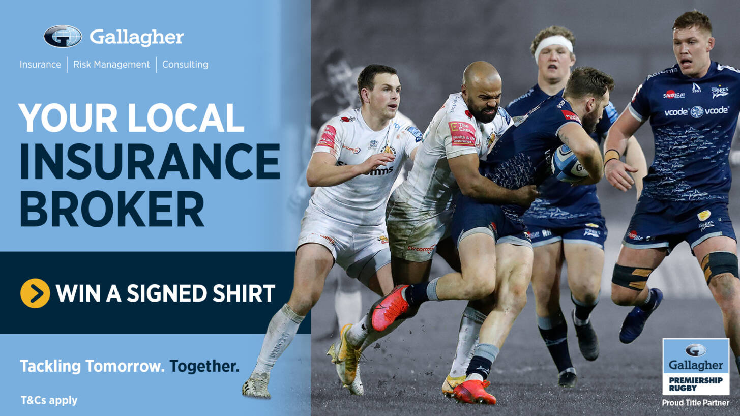 Win a signed shirt in celebration of Tackling Tomorrow. Together from Gallagher your local insurance broker!