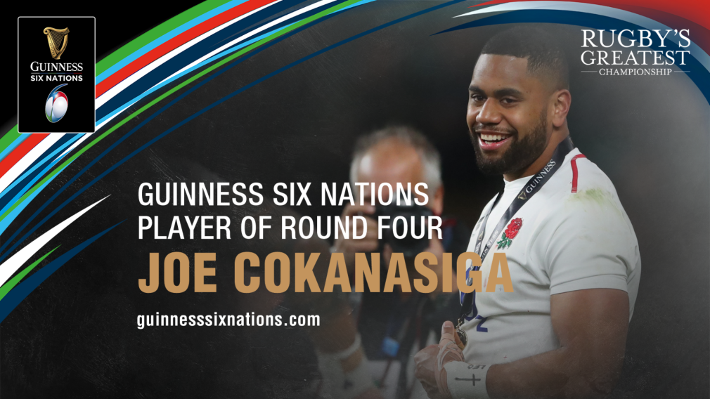 Cokanasiga named Guinness Six Nations Player of the Round