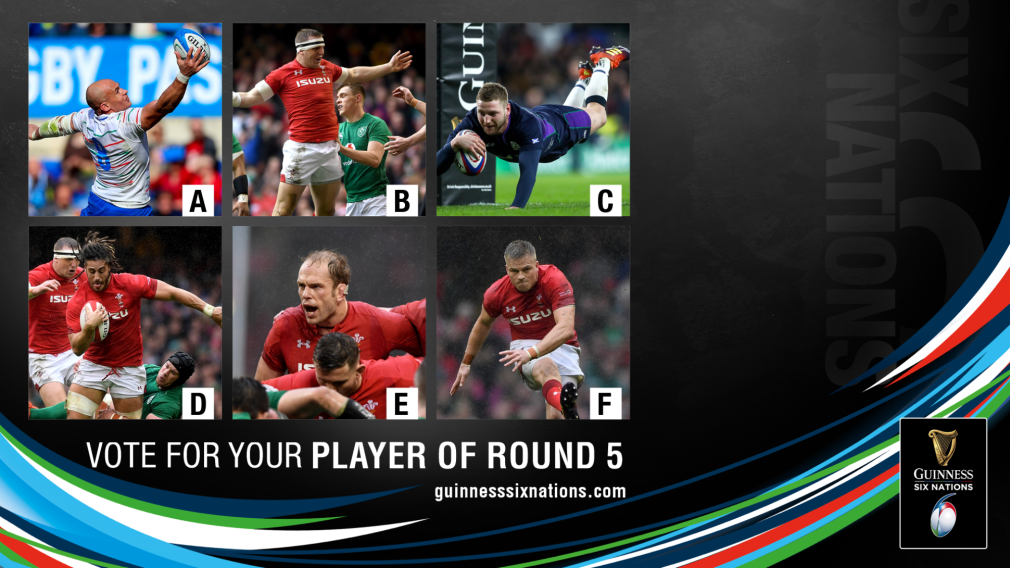 Nominees for Guinness Six Nations Player of Round Five