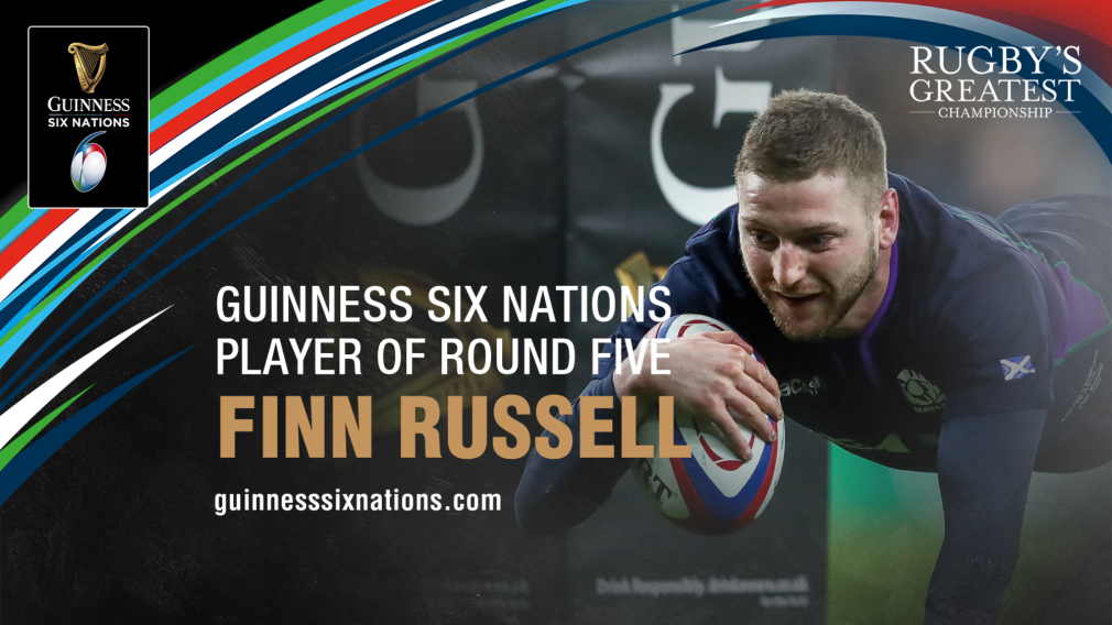 Russell named Guinness Six Nations Player of the Round