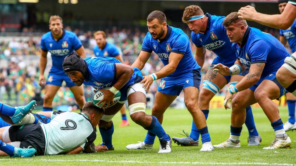 Italy taking positives from opener against Ireland