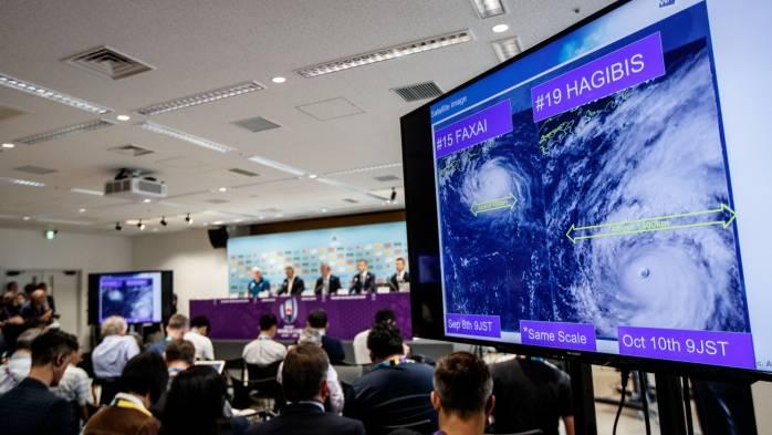 Il tifone Hagibis obbliga alla cancellazione di partite della Coppa del mondo di rugby