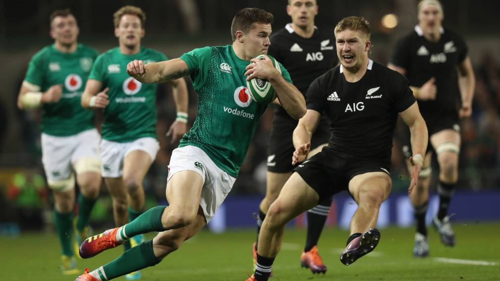 All Blacks thrash Ireland to set up England semi-final