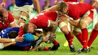 Moriarty late try sends Wales into semi-finals
