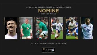 I candidati per il Guinness Six Nations Player del secondo turno