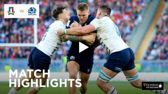 Extended Highlights: Italy v Scotland