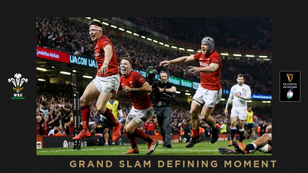 Grand Slam Defining Moment: Adams try keeps Wales on track