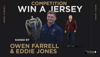 Terms & Conditions: Win an England Jersey Signed by Owen Farrell and Eddie Jones