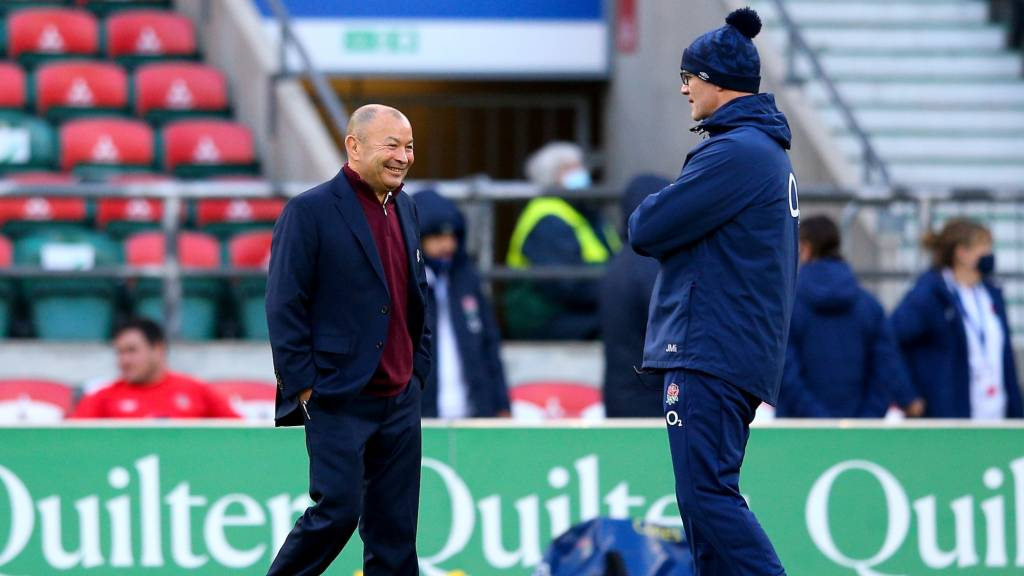 Eddie Jones avec John Mitchell