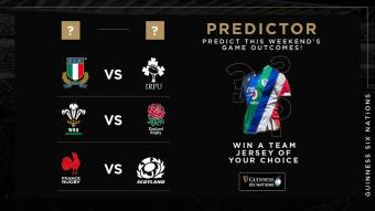 Put your rugby knowledge to the test with the Guinness Six Nations Predictor