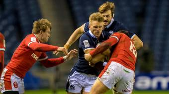 Chris Harris in action against Wales