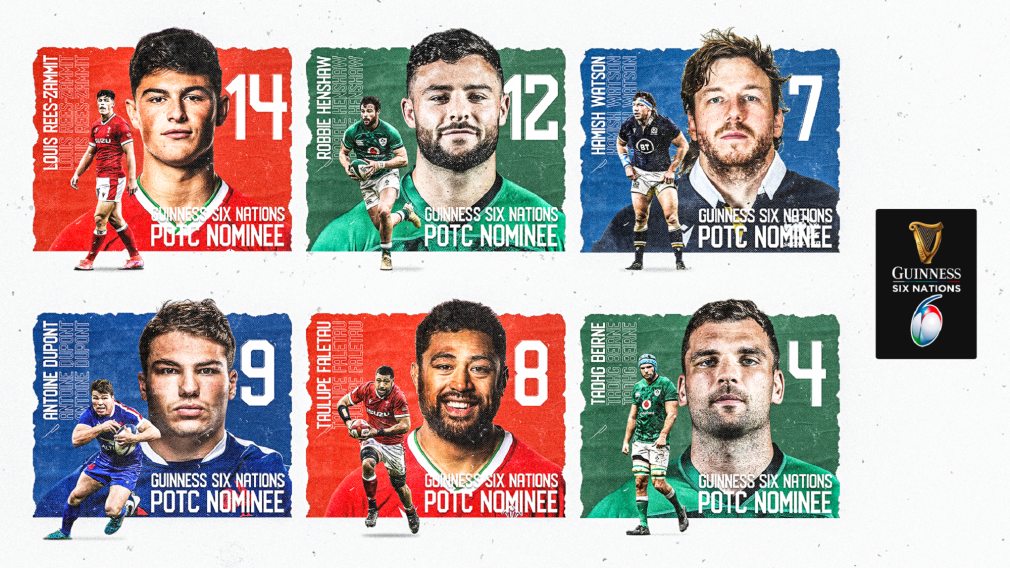 Vote for the 2021 Guinness Six Nations Player of the Championship