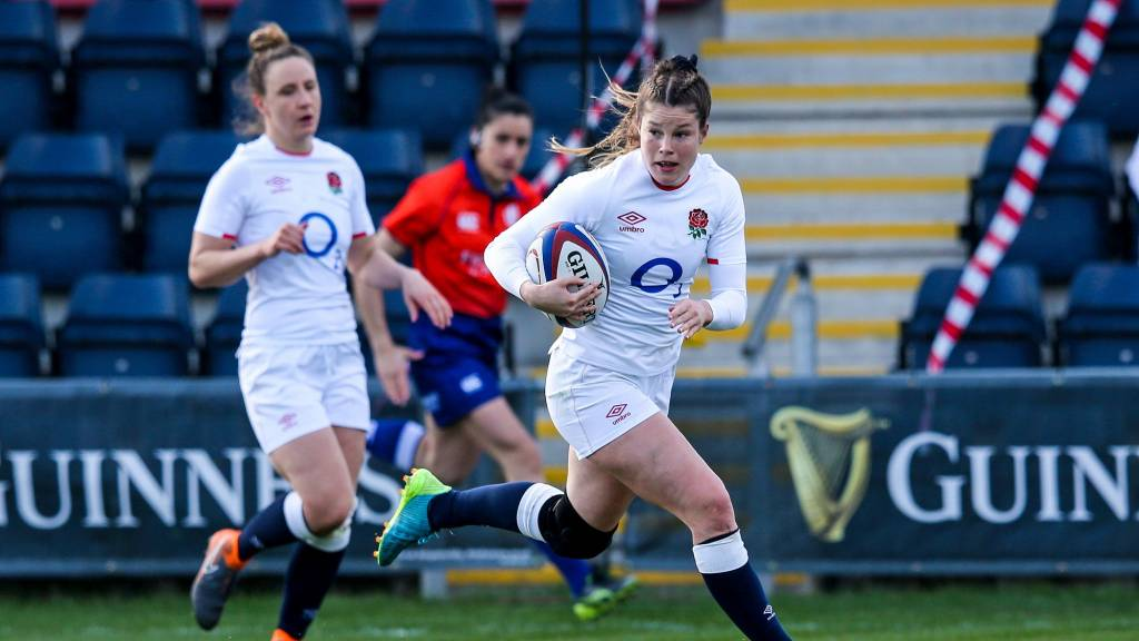 Jess Breach scores for England