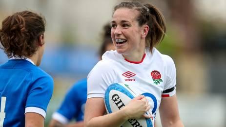 Emily Scarratt scored for England against Italy