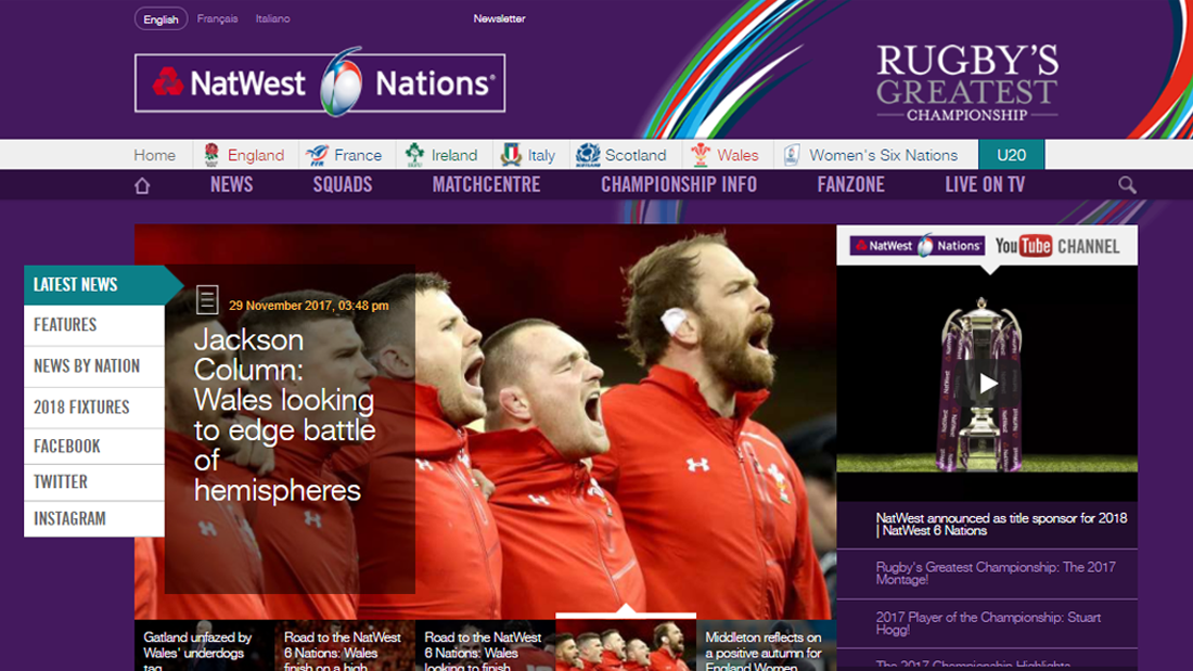 Six Nations Rugby rebrand