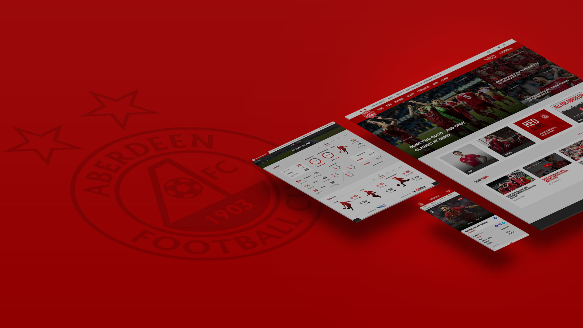Sotic presents the launch of the new Aberdeen FC website