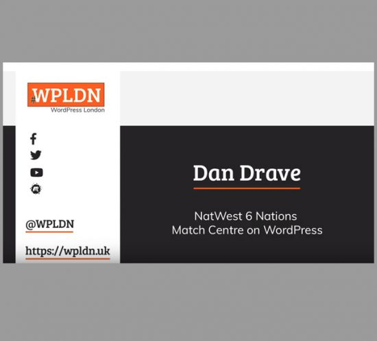 Dan Drave's presentation from WordPress London