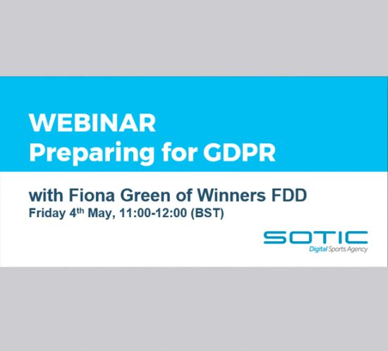 Sotic are hosting a GDPR preparation webinar on Friday 4th May 2018