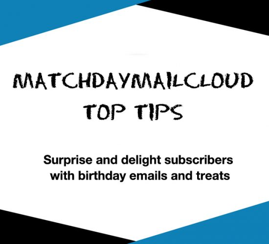 Birthday emails in MatchDayMailCloud