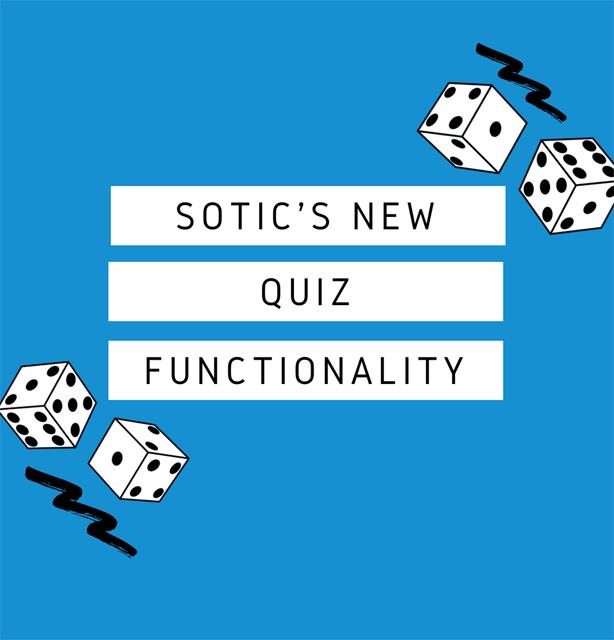 Sotic's quiz functionality